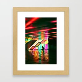Neon Stride Framed Art Print