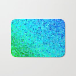 Pearl gradient watercolor drops Bath Mat