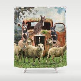 Kelpie Life Shower Curtain