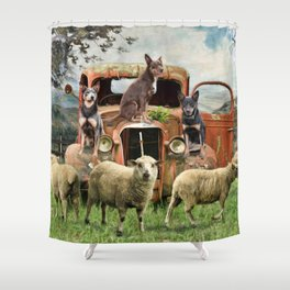 Kelpie Life Shower Curtain