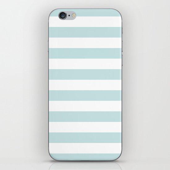 Ocean Blue Nautical Stripes Artsy Vintage iPhone & iPod Skin