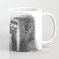 gorilla Mugs featuring Gorilla by Nasir Nadzir
