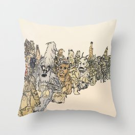 Koukeri (Mummers) Throw Pillow