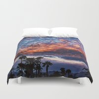 coachella Duvet Covers featuring Coachella Sky by Jay Hooker Designs