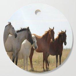 Wyoming wild horses Cutting Board