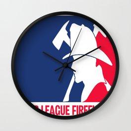 Major League Firefighter Wall Clock
