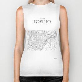 Torino - City Map - Daniele Drigo Biker Tank
