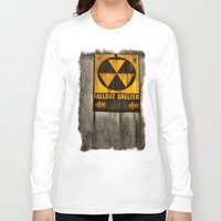 fallout Long Sleeve T-shirts featuring Fallout Shelter by Julie Maxwell