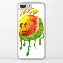 happy summer face Clear iPhone Case