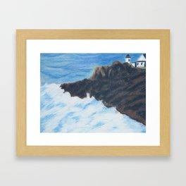 Lighthouse on a Cliff Framed Art Print