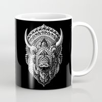 bioworkz Mugs featuring Bison by BIOWORKZ