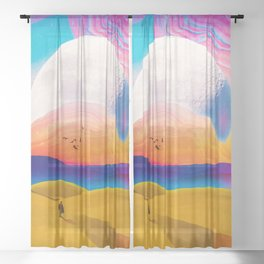 Behind This Mountains Sheer Curtain