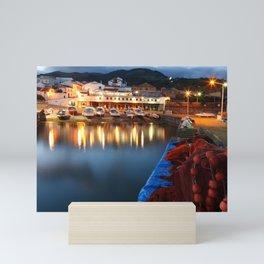 Colorful harbour Mini Art Print