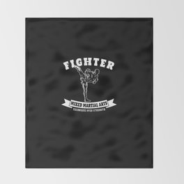 MMA Fighter Gifts Mixed Martial Arts Muay Thai Kickboxing Throw Blanket