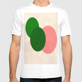 Peach Green Vintage Mod Circles T-shirt