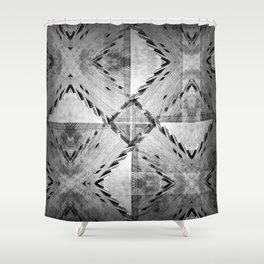 Struggle between taking paths and making patterns. Shower Curtain