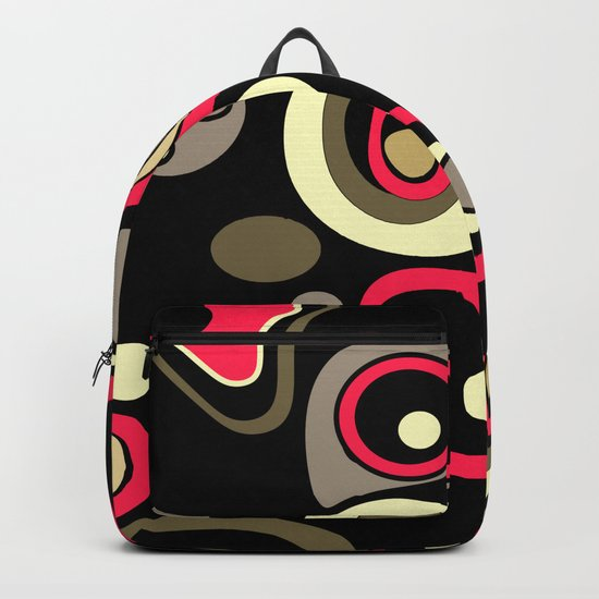Abstract colorful polka dots pattern . Backpack