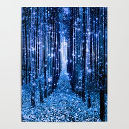 Magical Forest Bluest Blue Poster