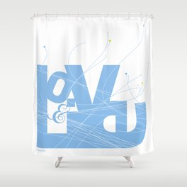 Love & Live (lines1) Shower Curtain