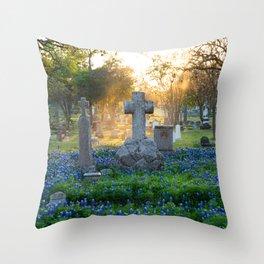 Bonnets at Rest - Austin Texas Throw Pillow