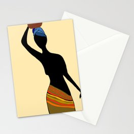 Silhouette of Village Woman, Meru Kenya Stationery Cards