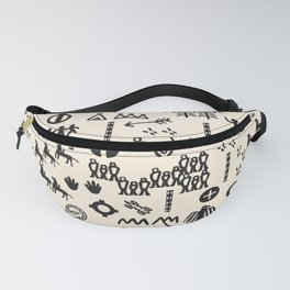 Peoples Story - Black and Creme Fanny Pack