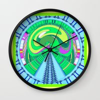 afro Wall Clocks featuring afro by Kathead Tarot/David Rivera