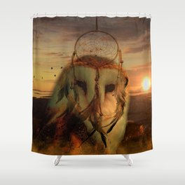 Dream Catcher and Magic Owl Shower Curtain