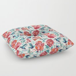 Hummingbird summerdance Floor Pillow