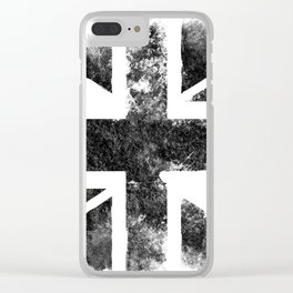 Black UK flag Clear iPhone Case