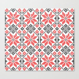 Romanian Traditional Embroidery Canvas Print