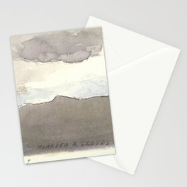 Mahadeo Mountains with Clouds  Stationery Cards