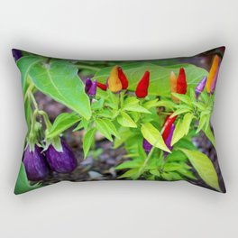 Colorful Peppers Rectangular Pillow