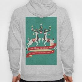 Christmas Deers with baubles Hoody