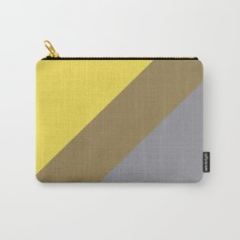 Grey Yellow Brown Line Design Solid Colors 2021 Color of the Years and Accent Hue Carry-All Pouch