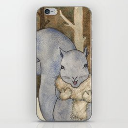 squirrel in the woods iPhone Skin