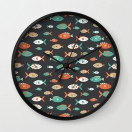 Retro Fish Wall Clock