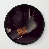 vogue Wall Clocks featuring Vogue by Alex Photography and Designs
