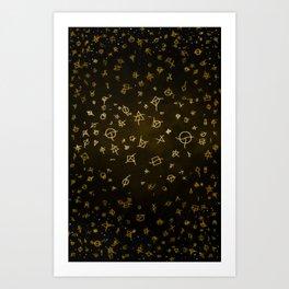 Charter gold Art Print
