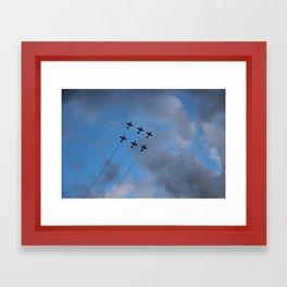 Above The Skies Framed Art Print