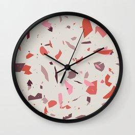 Rose Terrazzo - Light Wall Clock