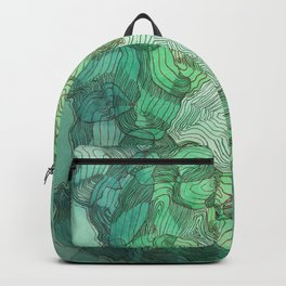Green Blobs Backpack