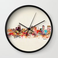 florida Wall Clocks featuring orlando florida by bri.buckley