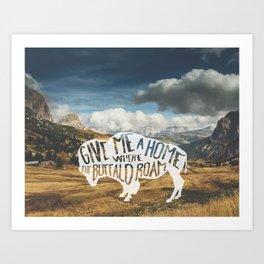 Where the Buffalo Roam Art Print