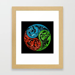 POKéMON STARTER: THREE ELEMENTS Framed Art Print