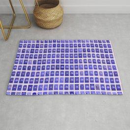 Dollar Pattern Blue Rug