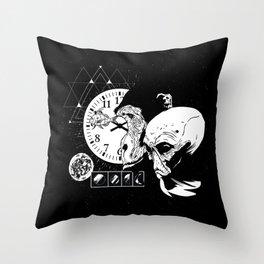 Monkey Alien Design Throw Pillow
