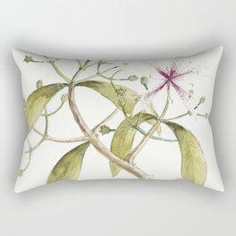 Timeless in its beauty- botanical illustration Rectangular Pillow