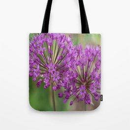 Purple Allium Twins Tote Bag