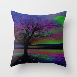 Magical Night Time Throw Pillow